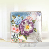 European style Chinese Ceramic Wall Decor Ceramic Hanging Plate Desktop Decor New Living Room Decor Gift M1897