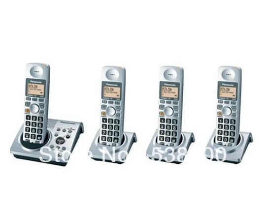 KX-TG1031s DECT 6.0 Cordless Phone with 4 Handsets Digital Wireless Telephone Recording Answering System Home Phone