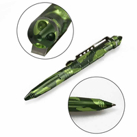 Free Shipping Fashionable Camouflage Self Defense Aviation Aluminum Tactical Survival Pen Portable Multifunctional Camping Tool