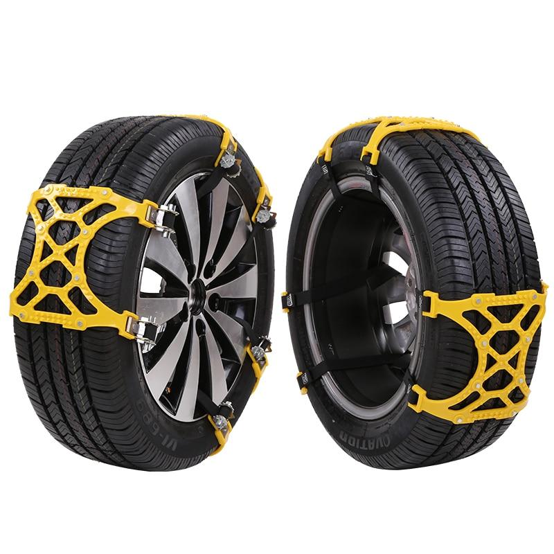 1 set 6pcs Universal Auto Car Snow Anti skid Chains Winter Snow Chains Vehicles Wheel Antiskid