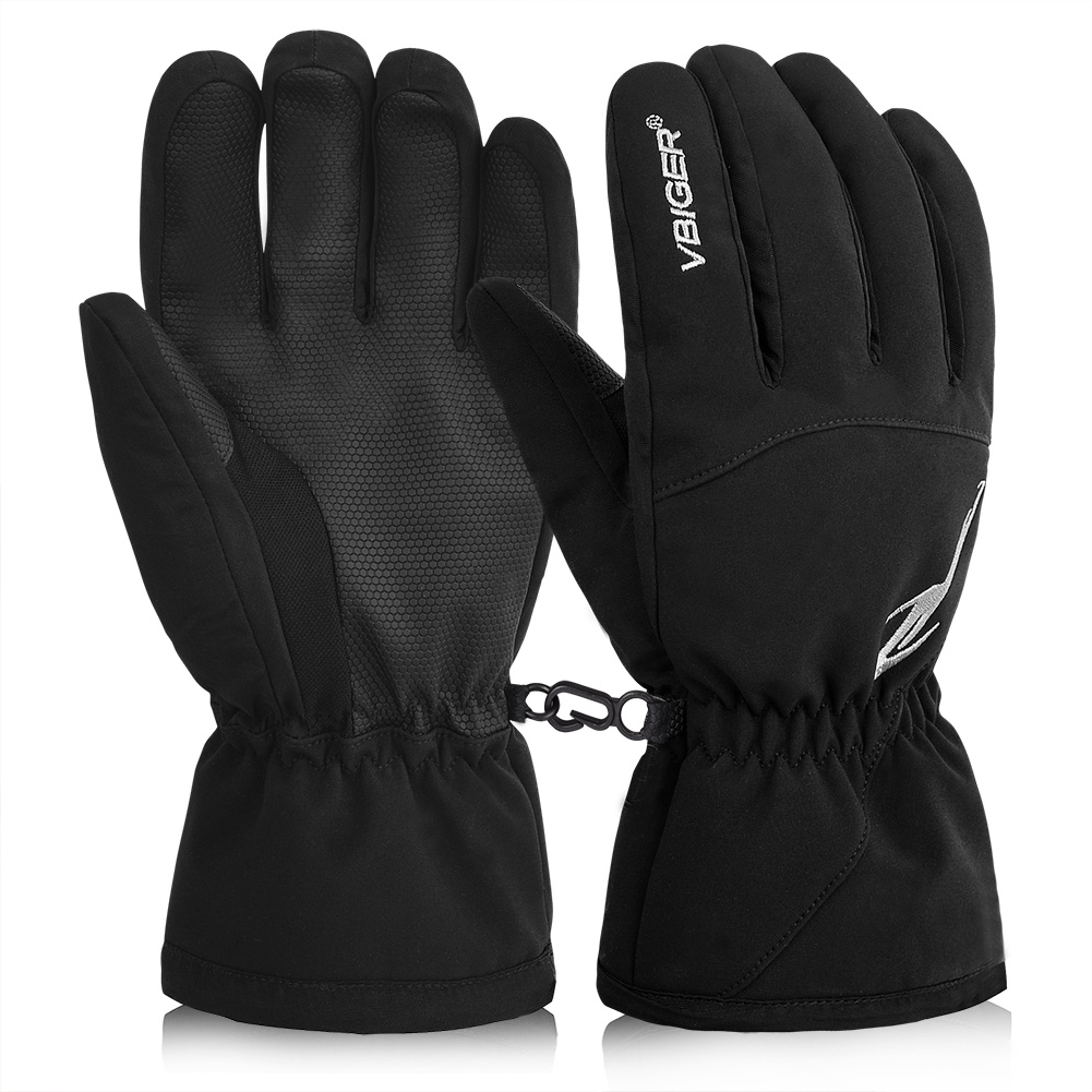 Unisex Winter Warm Gloves Full-finger Thick Gloves Snowboard Waterproof Sports Gloves Mittens for Skiing Sledding Cycling