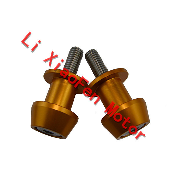 Free Shipping Motorcycle Stands Screws CNC Aluminum Swingarm Spools Slider For DUCATI 1098/S/Tricolor 848/EVO 8MM