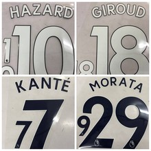 New Chelseaes JORGINHO FABREGAS KANTE HAZARD WILLIAN DAVID LUIZ PEDRO RUDIGER MORATA GIROUD number font print, patches badges(China)