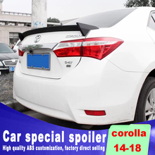 New design aircraft spoiler For toyota corolla 2014 2015 2016 2017 year high quality ABS rear trunk by paint