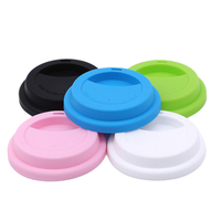 Silicone Insulation Leakproof Cup Lid Heat Resistant Anti Dust Mug Cover Home Supplies Kitchen Tea Coffee Sealing Lid Caps|Water Bottle & Cup Accessories| |  -