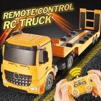 Пульт дистанционного управления грузовик бортовой полуприцеп Электроника хобби детские игрушки желтый инженерный конструктор Rc грузовик