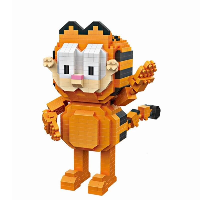 Loz Jedna Sprzedaż Mini Stoi Cafe Kot Garfield Cartoon Lalki Diament