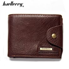 2018 baellerry Men Wallets PU Leather Short Desigh Brown Card Holder High Quality Male Purse Vintage Coin Holder Men Wallets(China)