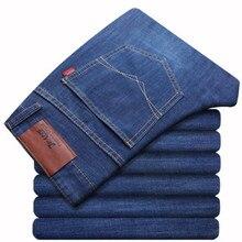 2019 New Spring cotton Jeans Men High Quality Famous Brand Denim trousers soft mens pants men's fashion Large Big size