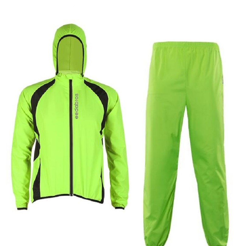 Quick Dry Cycling Jacket Waterproof Raincoat Rain Pants Set Windproof Men Running Rain Pants Outdoor Rain Coat Rain Pants