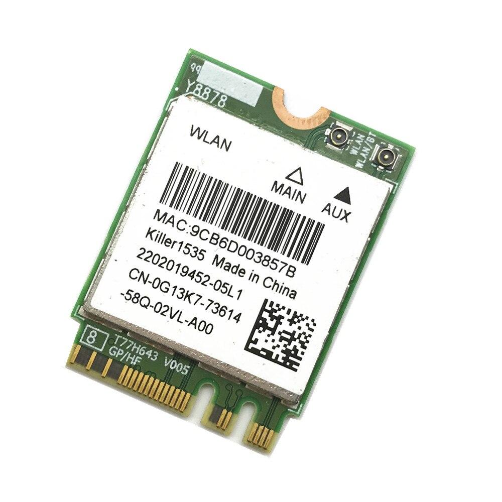 Para MSI GT72/GT80/GS60/GE62/GE72/PE60/PE70 Dell Alienware 13 R2 17 asesino 1535 Atheros QCNFA364A 802.11ac NGFF tarjeta