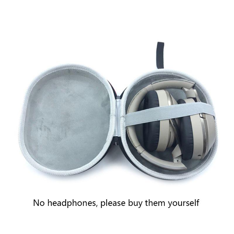 New Universal Hard EVA Headphones Storage Bag Travel Carrying Case Box for <font><b>Sony</b></font> <font><b>MDR</b></font>-<font><b>100ABN</b></font>/WH-H900N Earphones Headset qiang image