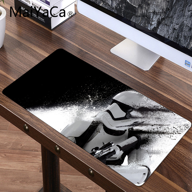 MaiYaCa Star Wars Force Unleashed Mouse Pad Speed Gamer Gaming Eat Chicken Fashion Notebook Mat Speed Large Mouse Pad 900*400mm vention 3 5mm aux кабель джек к позолоченному джеке 90°прямоугольный аудио кабель для iphone и monster beats наушники