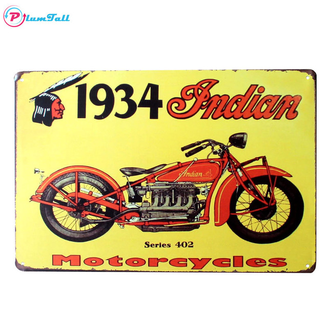 Retro Vintage Metal Sign Motorcycle Metal Poster Plaques Home Decor ...