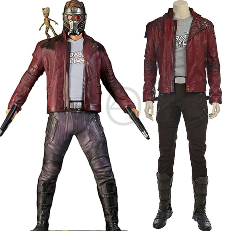 Peter Quill Star Lord Costume Guardians Of The Galaxy 2 Cosplay Halloween Costumes Star Lord Cosplay Suit Custom Made For Men 120pc pg8044 building blocks toys star lord peter guardians of the galaxy groot raccoon quill nebula mantis glenmora hugo drax