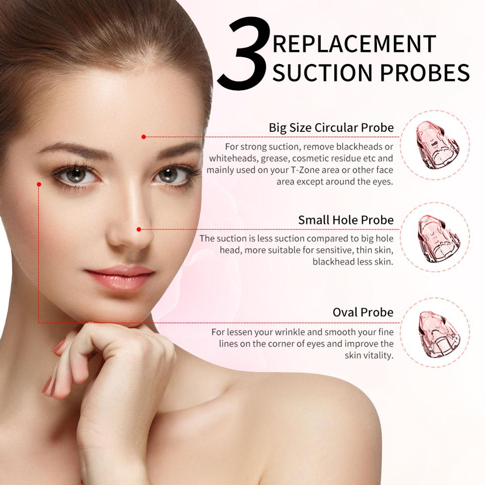Blackhead Remover Vacuum Pore Acne Pimple Removal Facial dermabrasion Nose Face Deep Cleansing Machine Clean Skin Care Tools in Face Skin Care Tools from Beauty Health
