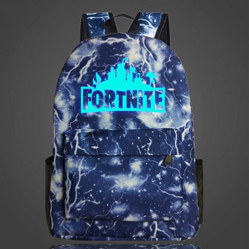 Fortnite Cool Night Luminous Backpack School Bags