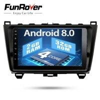 Funrover Android 8,0 2 Дин dvd gps для Mazda 6 mazda6 2008 2009 2010 2011 15 Авторадио Мультимедиа Стерео dvd плеер + Navi Радио рекордер