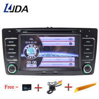 LJDA Two Din 7 Inch Car DVD Player For SKODA Octavia 2009 2013 Multimedia Stereo GPS