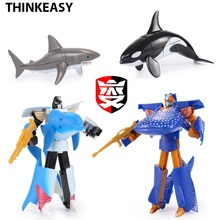 New Arrival transformation robot Action Figures Toy Model Kids Classic Robot Shark Toys For Children Best Gifts все цены