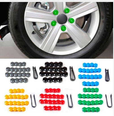 17MM for VW For Skoda 21Pcs Cars Vehicles Tire Wheel Tyre Screw Cap Decorative Tyre Wheel Nut Screw Bolt Protection Car Styling 078020t 1 10 rc drift car wheel rim tire tyre installation aluminum installer tool racing cars vehicles parts