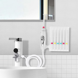 Image 1 - Torneira jato de água irrigador oral escova de dentes flosser dental implementos cuidados orais jato de água irrigador dental flosser dente mais limpo