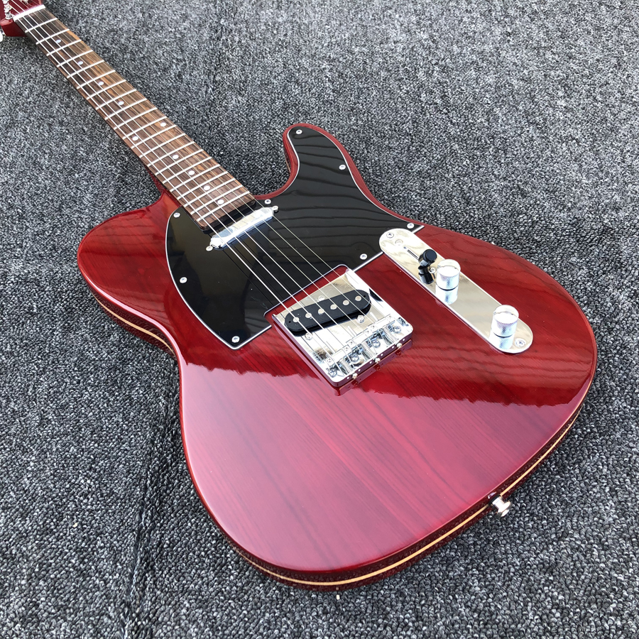 Elm body Electric Guitar wine red vintage tuners custom tele electric guitar free shipping