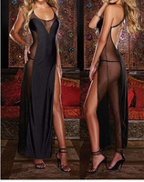 European And American Night Club Dress Sexy Underwear Sexy Lingerie Temptations Women Long Dress Lingerie Robe