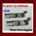 100% buen funcionamiento 32 gb abierto original para iphone 5 5g motherboard con chips, para iphone 5 5g placas base envío gratis