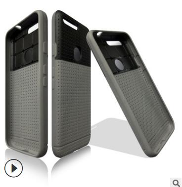 Pour google pixel étui TPU + PC Double ligne pu cuir série coque de téléphone pour google pixel xl étui de couverture fundas