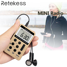 Hot Pocket FM / AM 2 Band Radio Portable Mini Size Receiver Rechargeable Battery + Earphone Y4116H
