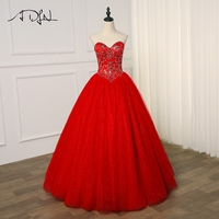 ADLN New Arrival Quinceanera Dress 2019 Red Crystal Sparkling Tulle Sweet 16 Dresses Quinceanera Gowns Color Custom