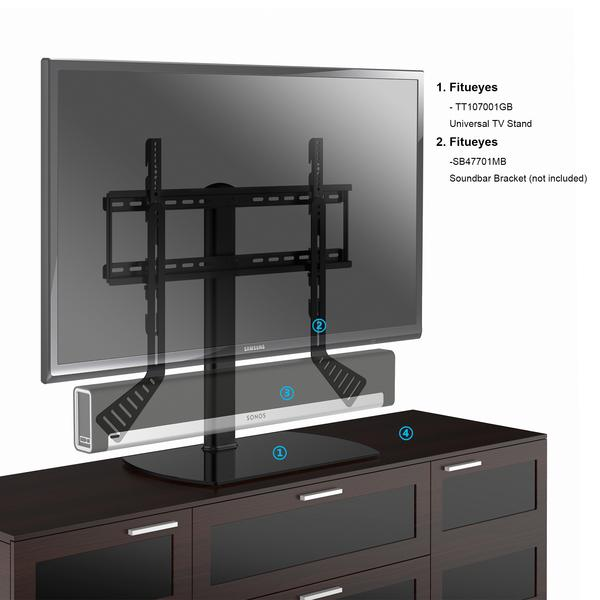 Fitueyes Universal Table Top TV Stand For 32 To 60 Inch TVs, Height  Adjustable Stands, Tempered Glass Base,TT107001GB In TV Stands From  Furniture On ...