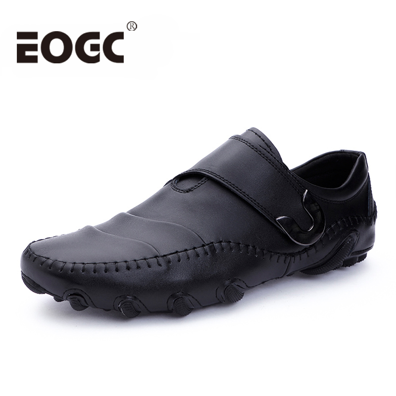 Fashion Roman Style Men Causal Shoes Sneakers Genuine Leather Men Shoes Slip on Designer Men Leather Shoes Outdoor Flats Shoes47