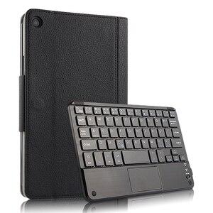 """Image 1 - Capa protetora para xiaomi mi pad 4 e 4 plus, capa de proteção, sem fio, bluetooth, teclado, couro pu, mipad4 plus 10, 10.1 """""""" estojo do tablet"""