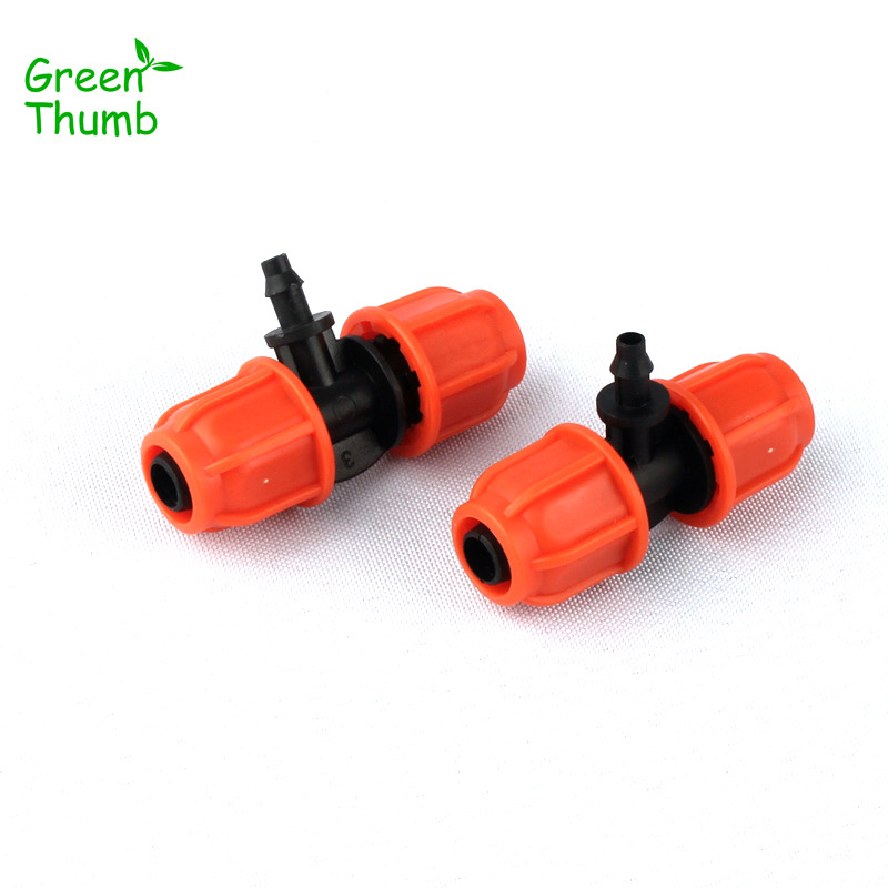 7pcs Thread Lock 8/11mm to 4/7mm Barbed Tee Reducing Connector for Home Garden Micro Irrigation Plastic 3 Way Connector
