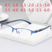 Прямоугольные полуоправы для очков по рецепту, дизайнерские оптические очки для близорукости, полимерные линзы, очки-0,5-1-1,5-2-2,5-3 -5 -6