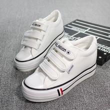 YeddaMavis Shoes Women Sneakers White Low Help Canvas Muffin Bottom Womens Woman Zapatos De Mujer