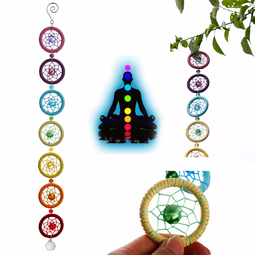 18 5Inches Chakra Muladhar Dream Catcher Wall Hanging Decoration Ornament for Car Party Nautical home decoration