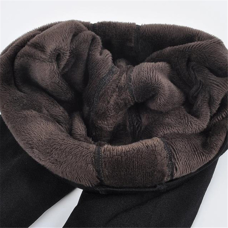 YGYEEG Women Autumn Winter Legging Thermal Trousers Elastic High Waist Plus Velvet Warm Thickening Push Up Legging Women Clothes
