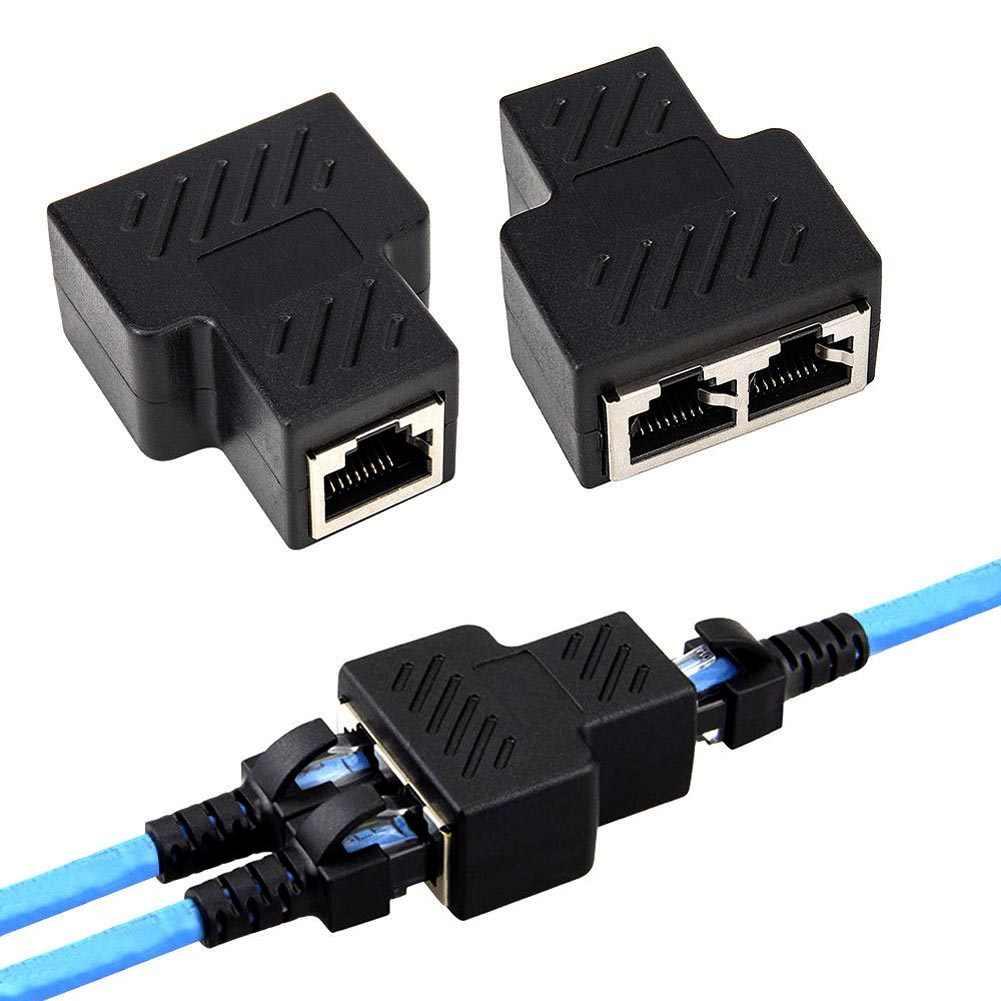 Tree-on-Life Pr/áctico Adaptador Divisor RJ45 de 1 a 2 v/ías Puerto Hembra Dual CAT5 6 LAN Cable Ethernet de Alto Rendimiento