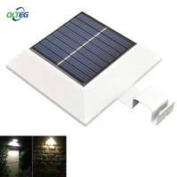 PIR Motion Sensor 150LM 4 LED Solar power LED Outdoor Gutter Light Waterproof Garden Fence Wall Yard Path Security Lamps Series