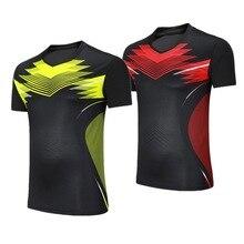Женские/мужские рубашки для бадминтона, одежда для тренировок, настольный теннис, спортивная одежда с коротким рукавом, футболки для пинг-понга/тенниса/волейбола