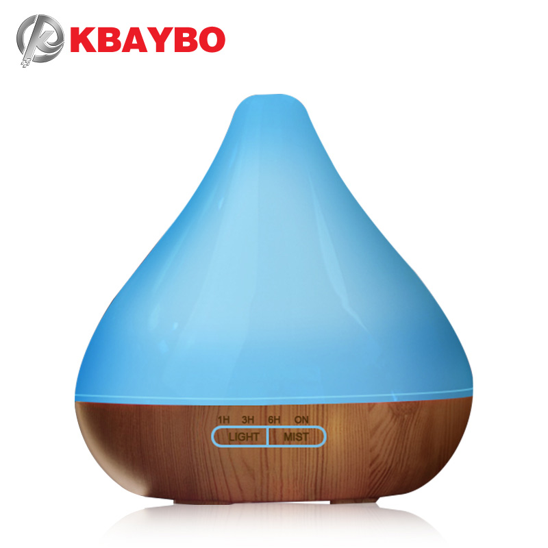 ejoai Essential Oil Diffuser, 300ml Wood Grain Aroma Diffuser with Cool Mist and 7 Changing Colors Light Ultrasonic Humidifier flannel skidproof wood grain print rug page 7