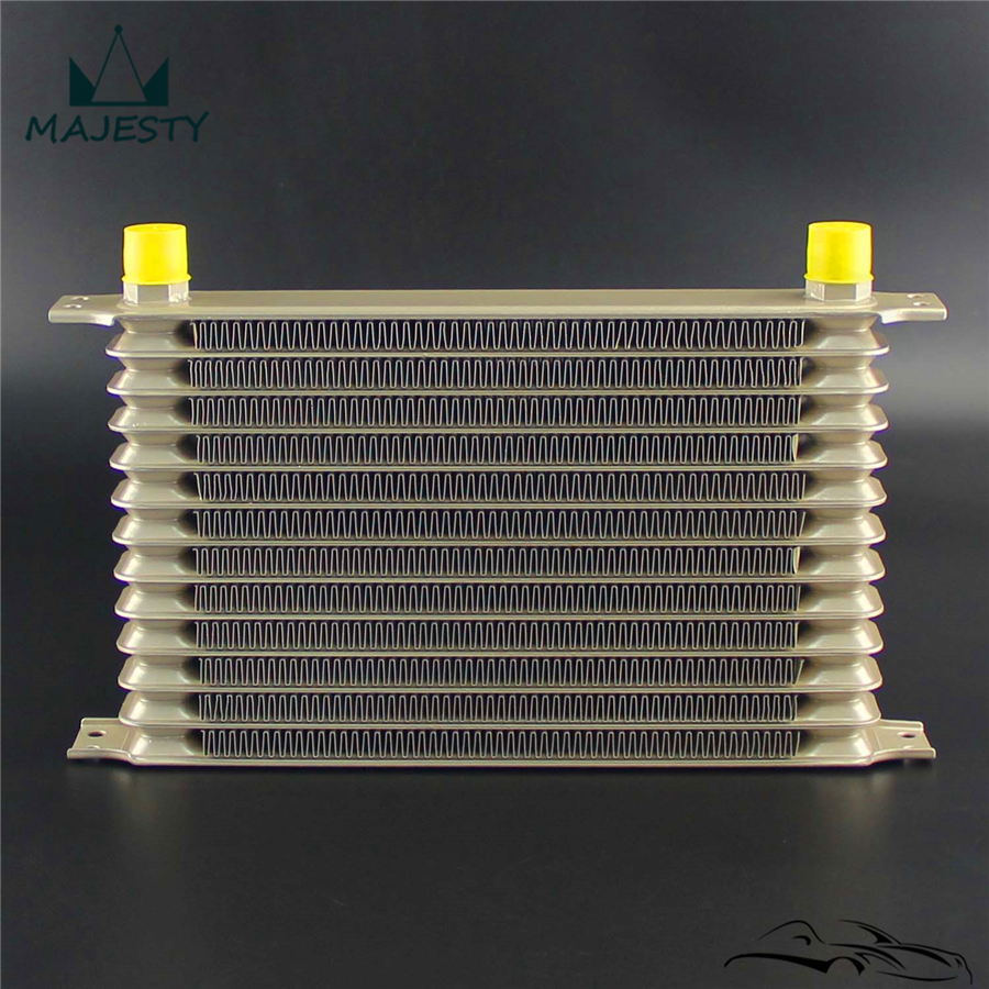 Champagne 13 Row AN10 Oil Cooler w// 3//4*16 /& M20*1.5 Filter Adapter Hose Kit