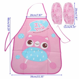 Image 2 - 1 セット子供エプロン袖子供絵画キッチン調理防水保護