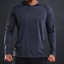 FLORATA informal-Camiseta de manga larga para hombre, Tops básicos ajustados, camisetas elásticas, camiseta con capucha cómoda