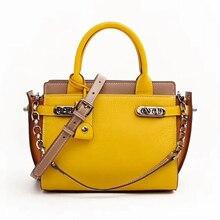 Известная брендовая дизайнерская женская сумка из натуральной кожи, роскошная женская сумка через плечо с рисунком, сумка-трапеция
