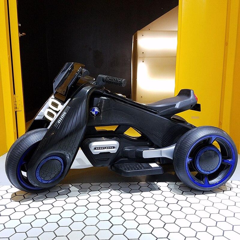 Los niños de la motocicleta eléctrica dual-coche triciclo 1-7 carga de coche de juguete puede montar en