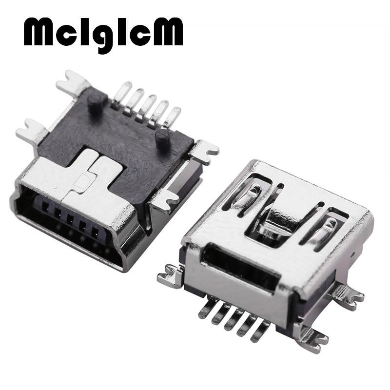 Mini USB Type B Female 5 Pin SMT SMD PCB Socket Connector Short body USB